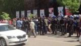 Посольство США в Анкаре, акцию протеста после удара по Сирии
